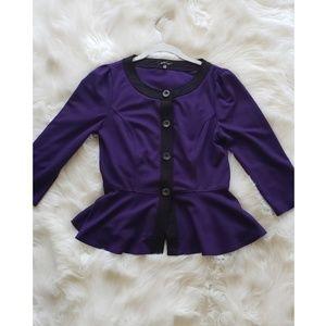Purple Peplum Cardigan Size S